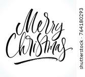 merry christmas lettering.... | Shutterstock .eps vector #764180293