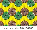 textile fashion african print... | Shutterstock .eps vector #764184103