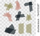 scotch  adhesive tape pieces...   Shutterstock .eps vector #764193187