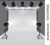 lighting equipment and... | Shutterstock .eps vector #764193403