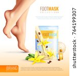 feet mask with essential flower ... | Shutterstock .eps vector #764199307