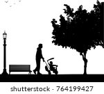 father walking with his baby a...   Shutterstock .eps vector #764199427