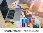designer graphic creative  man... | Shutterstock . vector #764210023