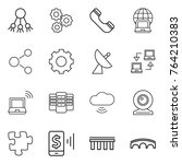 thin line icon set   share ...   Shutterstock .eps vector #764210383