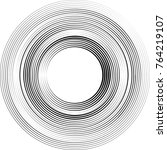 lines in circle form . spiral... | Shutterstock .eps vector #764219107