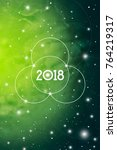 astrological new year 2018... | Shutterstock .eps vector #764219317