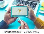 viral marketing social media... | Shutterstock . vector #764234917
