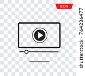 button play video on desktop... | Shutterstock .eps vector #764236477