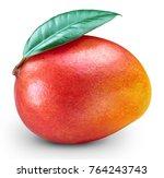 ripe mango isolated on white... | Shutterstock . vector #764243743