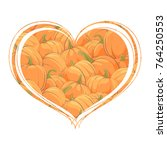 a beautiful heart inside which... | Shutterstock .eps vector #764250553