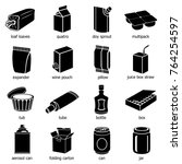 package types icons set. simple ... | Shutterstock . vector #764254597