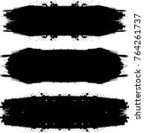 grunge paint stripe . vector... | Shutterstock .eps vector #764261737