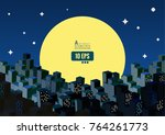 abstract city town building in... | Shutterstock .eps vector #764261773
