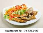 roasted sirloin chicken with... | Shutterstock . vector #76426195