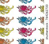chrysanthemum illustration.... | Shutterstock . vector #764262733