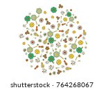 abstract background on a theme... | Shutterstock .eps vector #764268067
