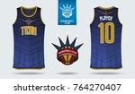 basketball uniform template... | Shutterstock .eps vector #764270407