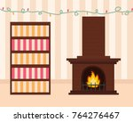 cozy living room in pastel... | Shutterstock .eps vector #764276467
