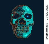 shape of skull combined with... | Shutterstock .eps vector #764278033
