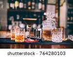 delicious whiskey based... | Shutterstock . vector #764280103