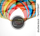color background with abstract...   Shutterstock .eps vector #764295847
