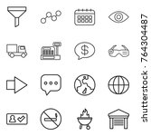 thin line icon set   funnel ...   Shutterstock .eps vector #764304487