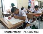 bangprok pathumtani thailand... | Shutterstock . vector #764309503