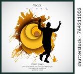 silhouette of marathon runner   Shutterstock .eps vector #764311003