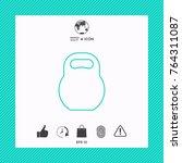 kettlebell line icon | Shutterstock .eps vector #764311087