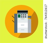 copy machine multifunction... | Shutterstock .eps vector #764312617