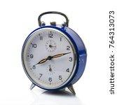 isolated alarm clock on white... | Shutterstock . vector #764313073