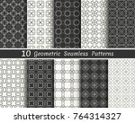 set of seamless geometric...   Shutterstock .eps vector #764314327