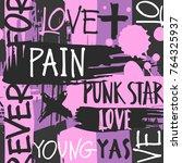 modern grunge style font... | Shutterstock .eps vector #764325937