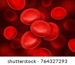 vector realistic blood cells...   Shutterstock .eps vector #764327293