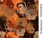 imprints abstract flowers and... | Shutterstock . vector #764355853