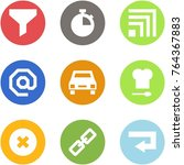 origami corner style icon set   ... | Shutterstock .eps vector #764367883