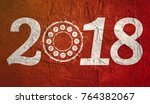 new year and christmas... | Shutterstock . vector #764382067