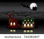Christmas Holiday Scene. Elves...