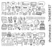 language school kids  chidlren  ... | Shutterstock .eps vector #764385937