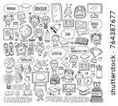 language school kids  chidlren  ... | Shutterstock .eps vector #764387677