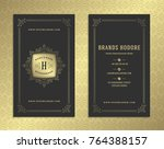 luxury business card and golden ... | Shutterstock .eps vector #764388157