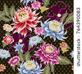 seamless pattern from painted... | Shutterstock .eps vector #764390083
