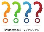 question mark symbol silhouette ...   Shutterstock .eps vector #764402443
