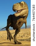 Tyrannosaurus Rex On Blue Sky...