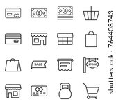 thin line icon set   card ... | Shutterstock .eps vector #764408743