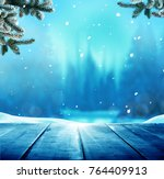 merry christmas and happy new... | Shutterstock . vector #764409913