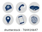 contact icon set | Shutterstock .eps vector #764414647