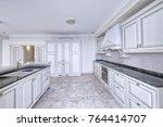 modern design white kitchen in... | Shutterstock . vector #764414707