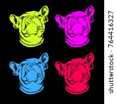 french bulldog. vector...   Shutterstock .eps vector #764416327