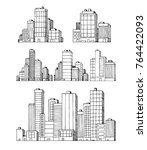 hand drawn urban vector... | Shutterstock .eps vector #764422093